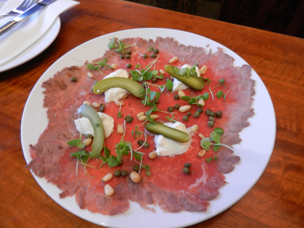 """Perth Restaurant Reviews"" ""Perth food blog"" ""food blog"" Chompchomp ""Gluten free"" ""Fructose malabsorption"" ""Five Bar"" ""Mount Lawley"" tapas ""Mount Hawthorn"" ""Beaufort Street"" ""Beef carpaccio"" ""goats curd"" pinenuts"