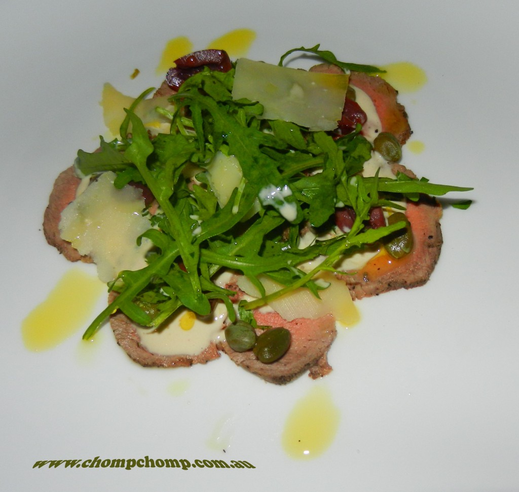 """Perth Restaurant Reviews"" ""Perth food blog"" ""food blog"" Chompchomp ""Gluten free"" ""Fructose malabsorption"" ""Bali restaurant reviews"" ""travel blog"" ""Seminyak restaurant reviews"" ""La Lucciola"" Italian Seminyak ""vitello tonnato"" veal ""tuna aioli"" capers rocket olives"