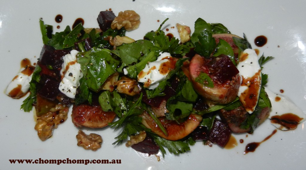 "Fig walnut beetroot ""goats curd salad' ""Perth Restaurant Reviews"" ""Perth food blog"" ""food blog"" Chompchomp ""Gluten free"" ""Fructose malabsorption"" ""Mount Lawley"" ""Beaufort Street"" ""Cantina 663"" Spanish Portuguese Italian"