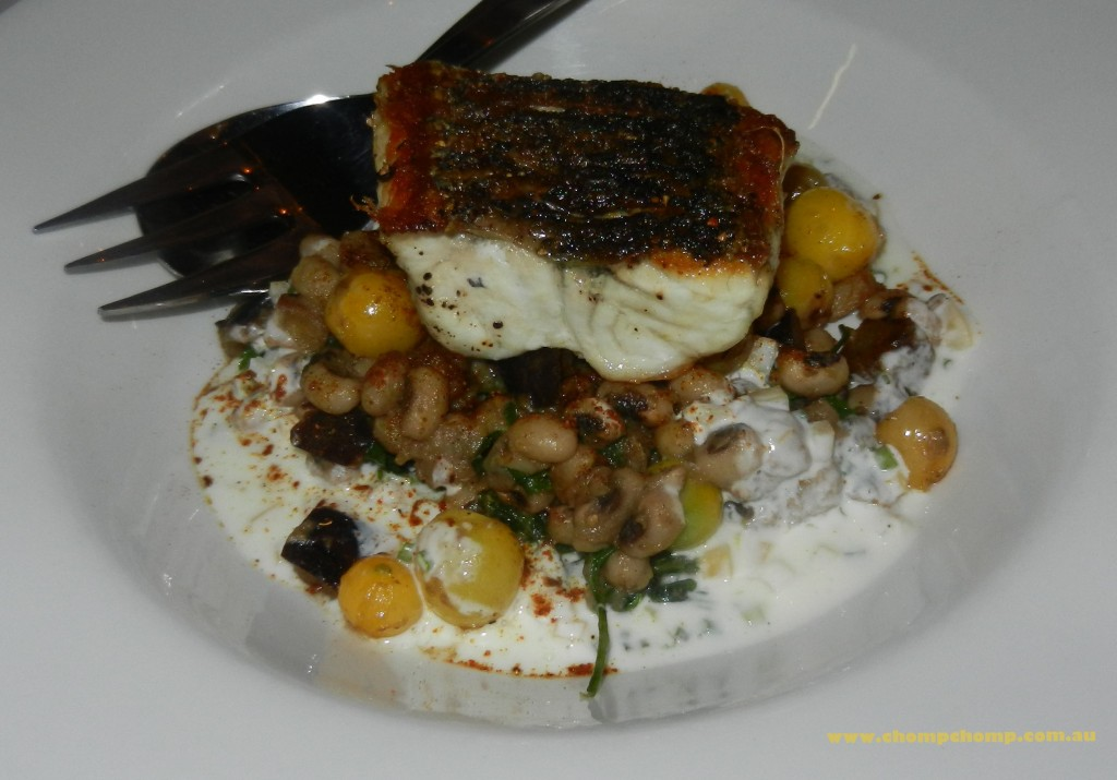"seafood ""pan fried barramundi"" ""spiced black eyed ragout"" ""preserved lemon yoghurt"" ""Perth Restaurant Reviews"" ""Perth food blog"" ""food blog"" Chompchomp ""Gluten free"" ""Fructose malabsorption"" ""Mount Lawley"" ""Beaufort Street"" ""Cantina 663"" Spanish Portuguese Italian"
