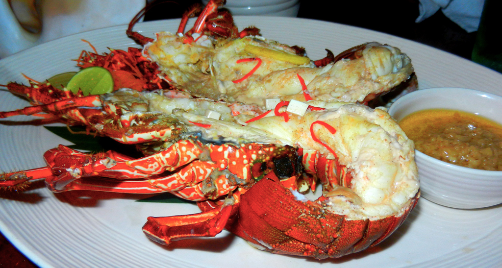 """Steamed Rock Lobster"" ""Indonesia style"" ""tofu"" ""chili"" ""garlic"" ""Perth Restaurant Reviews"" ""Perth food blog"" ""food blog"" Chompchomp ""Gluten free"" ""Fructose malabsorption"" ""Bali travel blog"" ""Bali restaurant review"" ""Bali food blog"" ""Seminyak review"" ""Bali accommodation"" ""Seminyak accommodation"" ""Rock Bar Bali"" ""Ayana Resort"" ""Kisik"" ""Beach bali"" ""beach dining"" ""Seafood"" ""Cocktail bar"""