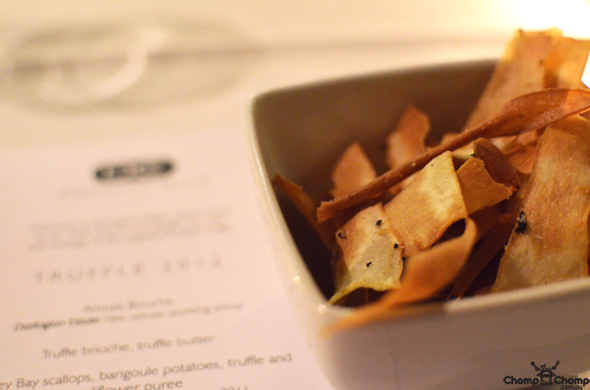 """Truffle parsnip chips"" ""Perth Restaurant Reviews"" ""food photos"" ""Perth food blog"" ""food blog"" ""Chompchomp"" ""Gluten free"" ""Fructose malabsorption"" ""Darlington Estate Winery"" ""truffle degustation"" ""degustation"" ""fine dining"" ""French"" ""winery"" ""Perth Hills"" ""Darlington"" ""Mundaring"" ""black truffle"" ""tuber melanosporum"""