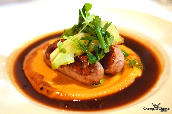 """Pork Sausages"" ""Confit fennel"" ""Sweet potato Puree"" ""herb salad"" ""jus"" ""Perth Restaurant Reviews"" ""food photos"" ""Perth food blog"" ""food blog"" ""Chompchomp"" ""Gluten free"" ""Fructose malabsorption"" ""Must Wine Bar, Highgate"" ""Highgate"" ""Beaufort Street"" ""Mount Lawley"" ""French"" ""wine bar"" ""bistro"" ""late night"""