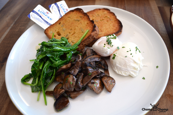 """Poached eggs"" ""mushrooms"" ""wilted spinach"" ""gluten free bread"" ""zehnder bread"" ""Perth Restaurant Reviews"" ""food photos"" ""Perth food blog"" ""food blog"" ""Chompchomp"" ""Gluten free"" ""Fructose malabsorption"" ""Harvest Espresso Victoria Park"" ""Victoria Park"" ""cafe"" ""brunch"" ""breakfast"" ""organic"" ""Vic Park"" ""albany Highway"" ""food sponge"""