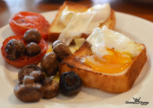 """Poached free range eggs"" ""eggs"" ""gluten free toast"" ""mushrooms"" ""roasted tomato"" ""Perth Restaurant Reviews"" ""food photos"" ""Perth food blog"" ""food blog"" ""Chompchomp"" ""Gluten free"" ""Fructose malabsorption"" ""breakfast"" ""brunch"" ""adelaide restaurant reviews"" ""brunch adelaide"" ""breakfast adelaide"" ""gluten free adelaide"" ""melbourne street"" ""North Adelaide"" ""Adelaide food blog"""