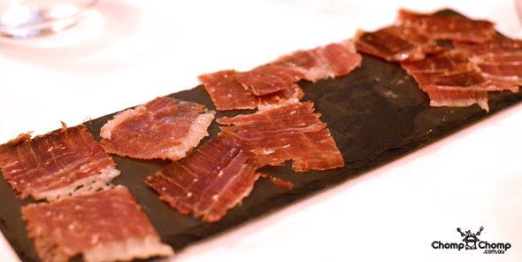"""Spanish Iberico de Bellota Ham"" ""jamon"" ""Castill y Leon"" ""Joselito"" ""Iberico jamon"" ""Perth Restaurant Reviews"" ""food photos"" ""Perth food blog"" ""food blog"" ""Chompchomp"" ""Gluten free"" ""Fructose malabsorption"" ""Singapore Food blog"" ""Singapore travel blog"" ""asian travel blog"" ""Fairmont Hotel Singapore"" ""Singapore accommodation"" ""Fairmont"" ""Singapore wedding"" ""Marina Bay Sands"" ""MBS"" ""Guy Savoy"" ""celebrity restaurant"" ""Fine dining"" ""French"" ""casino"""