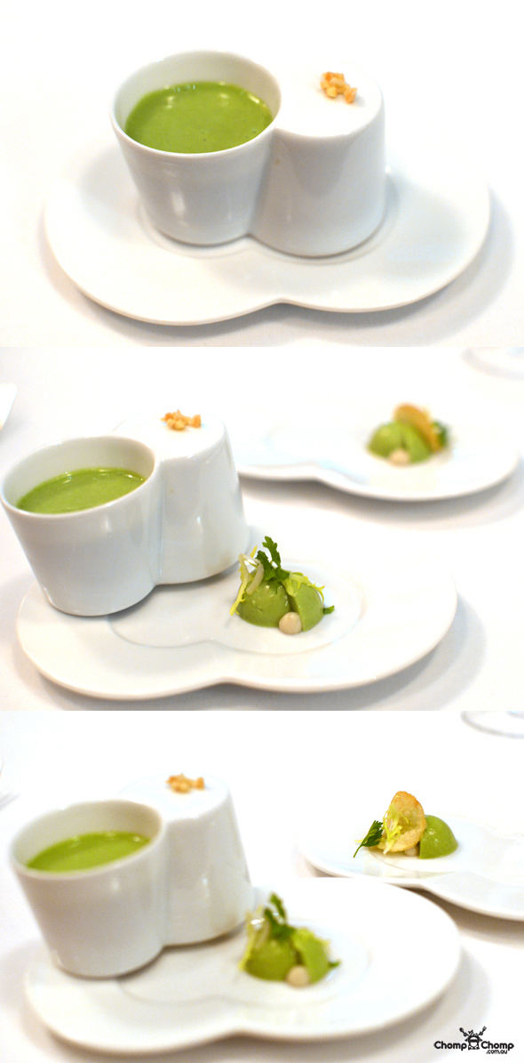 """L'amuse bouche"" ""Vichyssoise"" ""soup"" ""potato leek soup"" ""fennel"" ""Perth Restaurant Reviews"" ""food photos"" ""Perth food blog"" ""food blog"" ""Chompchomp"" ""Gluten free"" ""Fructose malabsorption"" ""Singapore Food blog"" ""Singapore travel blog"" ""asian travel blog"" ""Fairmont Hotel Singapore"" ""Singapore accommodation"" ""Fairmont"" ""Singapore wedding"" ""Marina Bay Sands"" ""MBS"" ""Guy Savoy"" ""celebrity restaurant"" ""Fine dining"" ""French"" ""casino"""