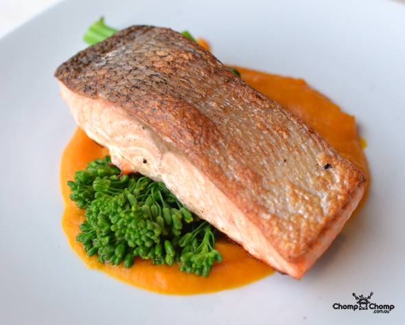 """Crisp skinned salmon"" ""pumpkin puree"" ""broccolini"" ""tomato vinaigrette"" ""fish"" ""seafood"" ""Perth Restaurant Reviews"" ""food photos"" ""Perth food blog"" ""food blog"" ""Chompchomp"" ""Gluten free"" ""Fructose malabsorption"" ""pub food"" ""Broken Hill Hotel, Victoria Park"" ""Broken Hill HOtel"" ""Perth hotels"" ""perth pubs"" ""Albany Highway"" ""Victoria Park"" ""Australia Day"" ""Triple J"" ""JJJ"" ""Hottest 100"""