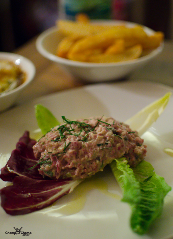 """Steak tartare"" ""chips "" ""Perth Restaurant Reviews"" ""Perth food blog"" ""Perth restaurants"" ""Perth gluten free"" ""Perth fructose friendly"" ""Perth food reviews"" ""restaurants perth"" ""food blog"" ""Chompchomp"" ""food photos"" ""gluten free"" ""fructose friendly"" ""gluten free cooking"" ""gluten free recipes"" ""fructose friendly recipes"" ""gluten free raw food"" ""fructose friendly raw food"" ""sponsored"" ""food event"" ""cocktail party"" ""Bistro Guillaume"" ""Rockpool"" ""Crown Perth"" ""Crown Casino"" ""macaron"" ""Jazz apple"" ""apple party"""