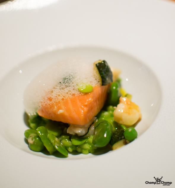 """atlantic salmon"" ""parsley risotto"" ""prawn"" ""broad bean"" ""peas"" ""sous-vide salmon"" ""oregano"" ""parsley risotto"" ""fricassee of spring vege"" ""zucchini"" ""prawn volute"" ""perth restaurant reviews"" ""perth restaurants"" ""perth gluten free"" ""perth fructose friendly"" ""perth food reviews"" ""restaurants perth"" ""food photos"" ""perth food blog"" ""food blog"" ""travel blog"" ""perth"" ""perth travel blog"" ""chompchomp"" ""gluten free"" ""fructose friendly"" ""low fodmap diet"" ""fructose malabsorption"" ""gluten free cooking"" ""raw food cooking"" ""gluten free recipes"" ""fructose friendly recipes"" ""gluten free raw food"" ""fructose friendly raw food"" ""coeliacs"" ""coeliac disease"" ""melbourne restaurant reviews"" ""melbourne restaurants"" ""melbourne gluten free"" ""melbourne fructose friendly"" ""melbourne food reviews"" ""restaurants melbourne"" ""melbourne food blog"" ""melbourne"" ""melbourne travel blog"" ""melbourne degustation"" ""melbourne fine dining"""