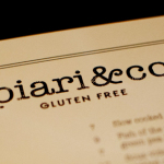 A dedicated gluten free menu at Piari & Co, Dunsborough