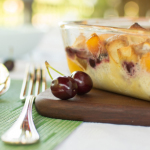 Peach and Cherry Breakfast Bake (gluten free, vegetarian, dairy free)