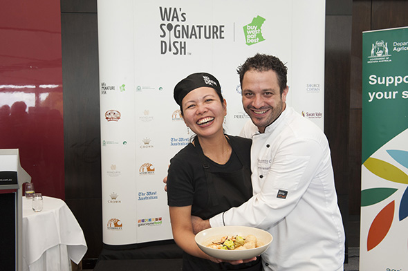 Jerolina with Mentor Chef Peter Manifis