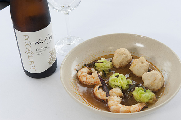 Gascoyne seafood broth with Shark Bay wild prawns