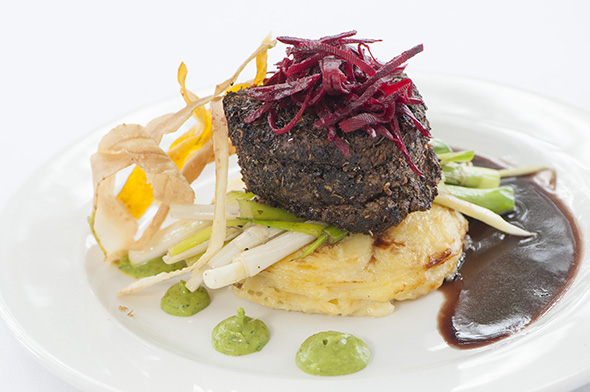 Harvey Beef eye fillet, bush tomato, native thyme and pepperberry with red wine jus